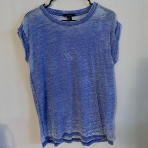 Blue Burnout Tee